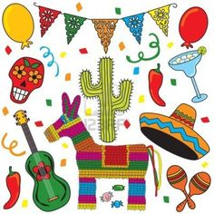 Image detail for -Clip art Mexican Fiesta individually grouped. Great for Cinco de Mayo ...
