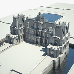 Old Chateau I Model available on Turbo Squid, the world's leading provider of digital models for visualization, films, television, and games. Baroque Architecture, Architecture Details, Dream Mansion, Medieval Houses, 3d Home, Modern Mansion, Marquise, Sims House, Building A House