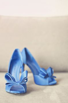 Something Blue Wedding Shoes.