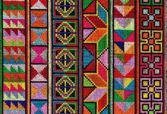 Cross stitch pattern of Hill tribe people in Northern Thailand Stock Photo Cross Stitch Borders, Crochet Borders, Cross Stitch Charts, Cross Stitch Designs, Cross Stitching, Cross Stitch Patterns, Diy Embroidery, Cross Stitch Embroidery, Embroidery Patterns