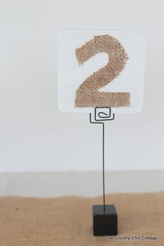 wedding table diy | Next up is a faux bois table number that falls somewhere in between on ...
