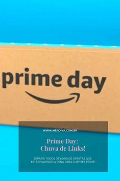 As promoções da Amazon pro Prime Day já começaram e vim compartilhar alguns dos links. Company Logo, Day, Link, Rain Fall