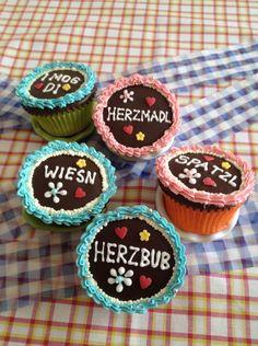 #Wiesn #Cupcakes - sehen die nicht zauberhaft aus?