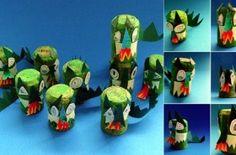 dragones con tapones de corcho