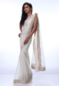 Beautiful White Designer Sarees  If you like this Like Our Page :https://www.facebook.com/bhartis.tailor  Website : http://www.bhartistailors.com/ Email : arvin@bhartistailors.com