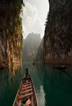 Chore Larn Lake, Khao Sok National Park, Thailand.