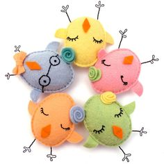 Cute Felt Chicks!