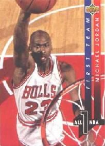 1993-1994 93-94 Upper Deck #AN 4 Michael Jordan All-NBA ---> shipping is $0.01 !!!