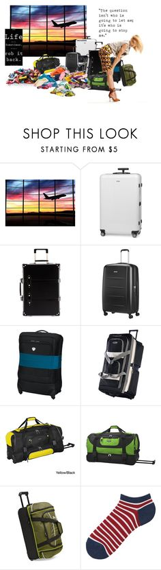 """""""Suitcases"""" by foreevers ❤ liked on Polyvore featuring Rimowa, Globe-Trotter, Samsonite, TravelSmith, Olympia, Travelers Club, High Sierra, Uniqlo, StoryTeller and myownworld"""
