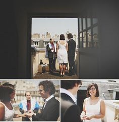 rooftop elopement overlooking the city of paris - doesn't get more romantic than that!!