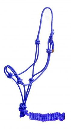 Brown Showman ® Horse size cowboy knot halter with matching 8' lead