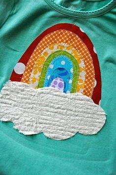Rainbow t-shirt tutorial