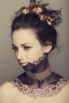 Love this look.  Steampunk meets fantasy meets Aborigine.