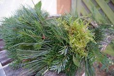 Filz und Garten: Adventskranz selbstgewickelt