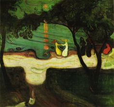 Dance on the Beach by Edvard Munch