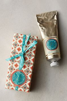 Hostess Gifts for just $10: winter blossom hand cream at Anthropologie. Stock up!