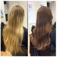 "Ammi ""höstar"" till denna kund ordentligt. Från ett #blont hår med stor #utväxt till en snygg, fräsch och höstig #look ✨#michaelofrisorerna #hairpassion #stockholm #ombre #ombrehår #ombrehair #balayage #olaplex #olaplexsweden #hair #hairstyle #hairstylist #hår #haircolour #hairfashion #Longhair #hairdresser #blondehair #blonde #brownhair #curlyhair"