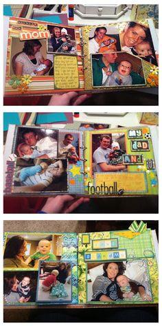 Scrapbook, Mini Album For My Nephew