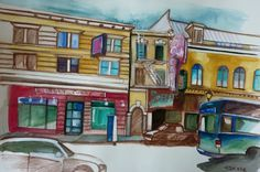 Carmen Stanescu - Google+ Sign, Mansions, House Styles, Google, Painting, Home Decor, Watercolor Painting, Mansion Houses, Homemade Home Decor