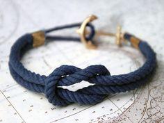 Blue anchor bracelot
