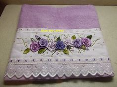 vida criativa: toalha em cetim rosa