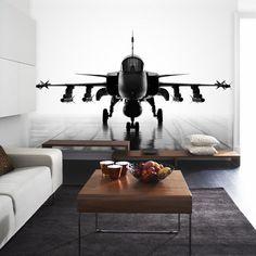 jah het zal je maar gebeuren een vliegtuig in je woonkamer!!