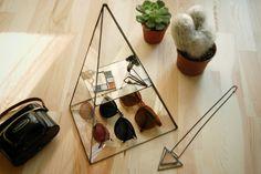 Piramide van sieraden doos / geometrische glazen Box / handgemaakte Terrarium…