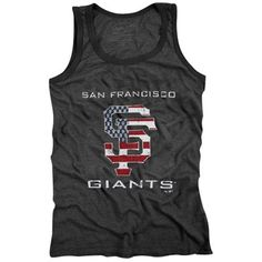 Majestic Threads San Francisco Giants Stars & Stripes Tri-Blend Tank Top - Black