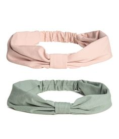 2-pack Jersey Hairbands | Turquoise/powder pink | Kids | H&M US