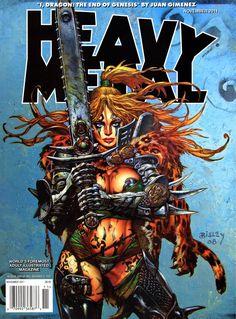 Heavy Metal Magazine / Vol 35 - cover / November 2011 Simon Bisley) Heavy Metal Comic, Heavy Metal Art, Heavy Metal Bands, Simon Bisley, Metal Magazine, Magazine Art, Fantasy Comics, Fantasy Art, Sword And Sorcery
