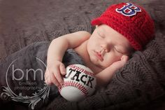 Baby Boston Red Sox  Hat  Knitted / Crochet by GoldenGirlzHandmade, $25.00
