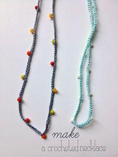 free crochet pattern beaded necklace