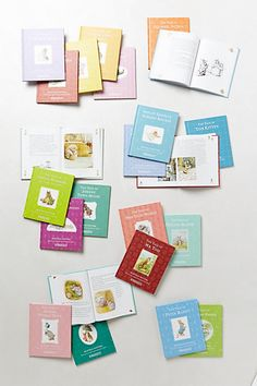 #anthropologie  Oh my god- I had a set like this for when I was little…it meant so much to me. I loved it because they were so tiny and I could put my little books in my little pockets. This is a definite.