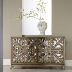 Hooker Furniture Melange Fleur-de-lis Mirrored Credenza