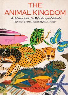 The Animal Kingdom; Charlie Parker illustrator Mid-Century Modern Graphic Design
