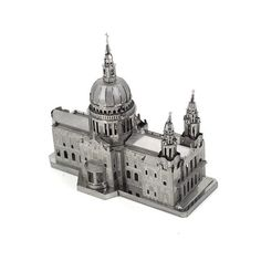 3D Metal Puzzles for children Adult Model kids Toys for Adult Jigsaw St.Paul's Cathedral church metal puzzle educational toys