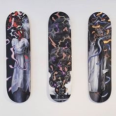 Not so old painting on skateboard decks from Kalaban solo show Brainstorming some brand new pieces and its not on wood nor canvas or paper Renz, Old Paintings, Skateboard Decks, Swiss Army, Brand New, Canvas, Paper, Wood, Instagram