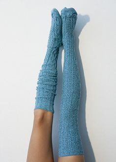 Marled Cable Knit Thigh High Socks from Peony and Moss. – Outfit Inspiration & Ideas for All Occasions Cable Knit Socks, Knitting Socks, Crochet Socks, Thigh High Socks, Thigh Highs, Knee Highs, Boating Outfit, Stocking Tights, Types Of Fashion Styles