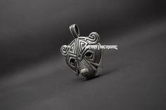 Silver Norse Bear Head Necklace Pendant Original Animal