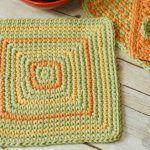 Seeing Squares Crochet Dishcloth Pattern