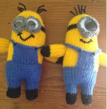 Free Despicable Me Minion Knitting Patterns- hats, toys, cozies and more....