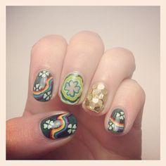 kellyohstein St. Patrick's day #nail #nails #nailart