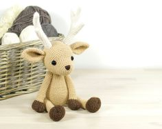 PATTERN: Deer - 4-way jointed amigurumi deer (EN-071)