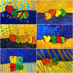1st graders talked about A LOT of different art concepts with this project.     They learned about the still life.  We talked about space a...