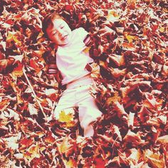 making leaf piles and jumping in!