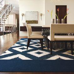 Flor  carpet tile - ikat interpretation