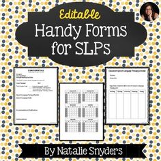 Super handy editable forms for SLPs - help organize scheduling, accommodations, & attendance!  Great for back to school!