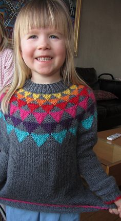 Ravelry: Project Gallery for Garland sweater with stripy pants pattern by Anna & Heidi Pickles