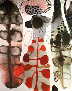 Abstract Watercolor Art, Watercolor And Ink, Watercolor Paintings, Art Du Collage, Illustration Photo, Guache, Art Textile, Painting Inspiration, Creative Art