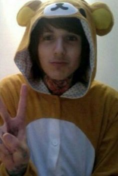 Oliver Sykes in a cute onesie